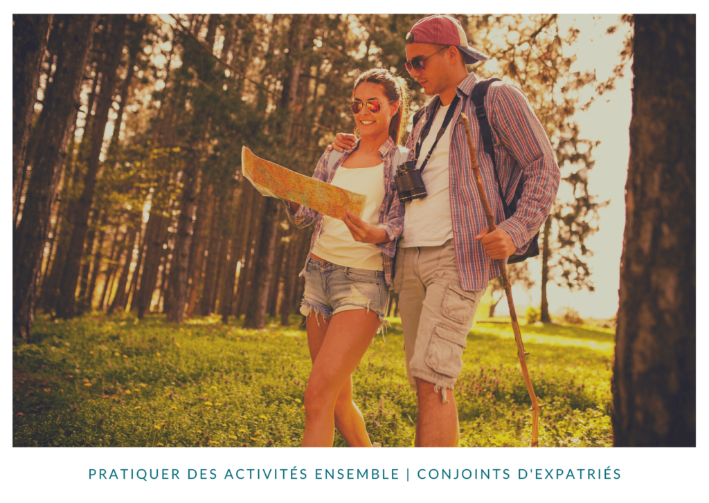 Pratiquer des activités ensemble en expatriation