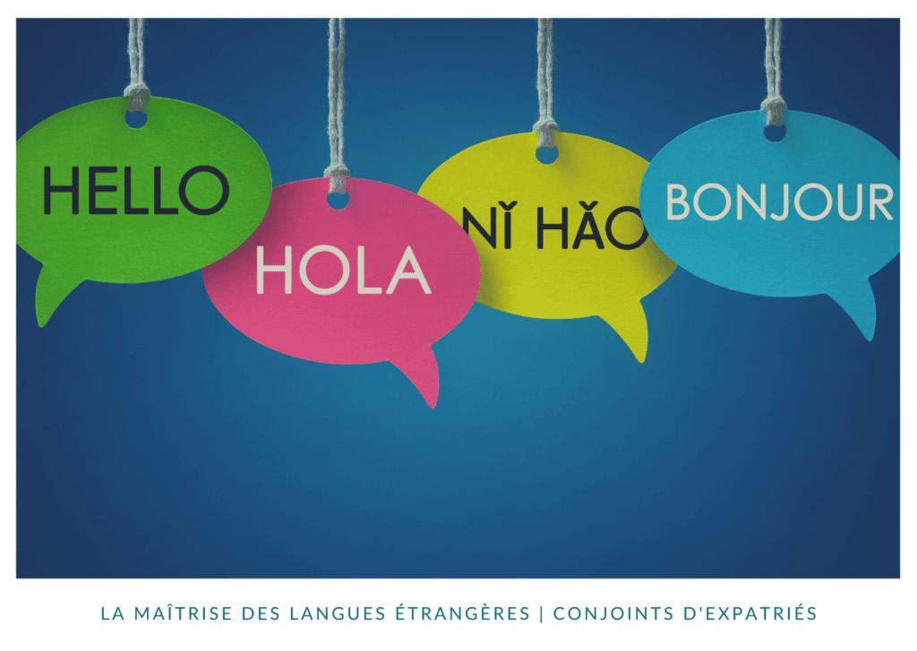 la maitrise des langues étrangères en expatriation