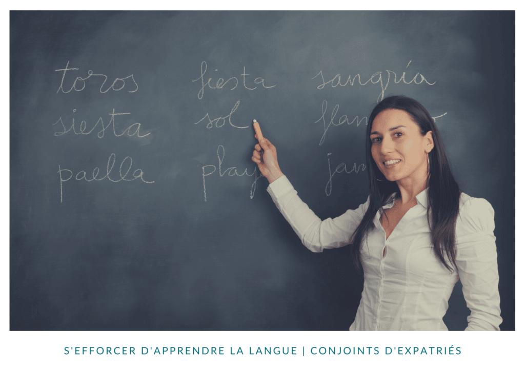 S'efforcer d'apprendre la langue